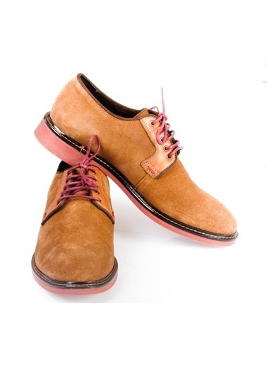 Wessi Bağcıklı Süet Ayakkabı Taba